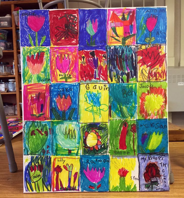 Pre-K Auction Art. Sharpie drawings on dry wax paper, decoupaged to a stretched canvas. Great way to celebrate every colorful scribble. #fundraiser #auctionart #sharpie