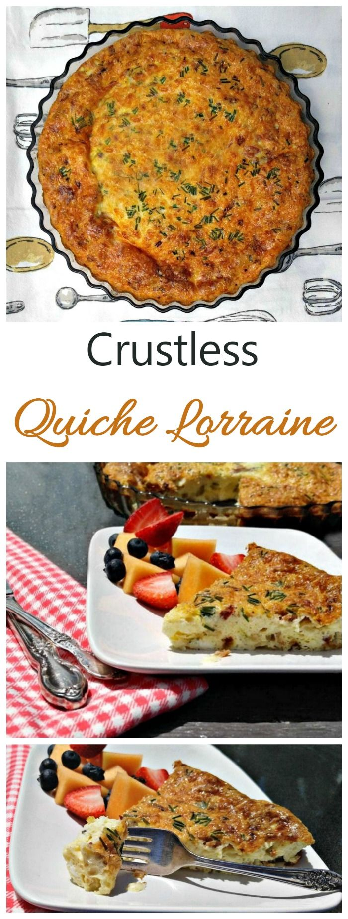 This crustless Quiche Lorraine is full of flavor but has been slimmed down to make it more calorie friendly.