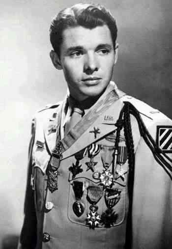 Audie Murphy, most decorated u.s. soldier from WWII. Back when we treated our soldiers as the heroes they are.