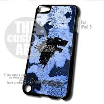 Game Of Thrones House Shark Winter Is Coming case for iPod 5 | TheCustomArt - Accessories on Bonanza