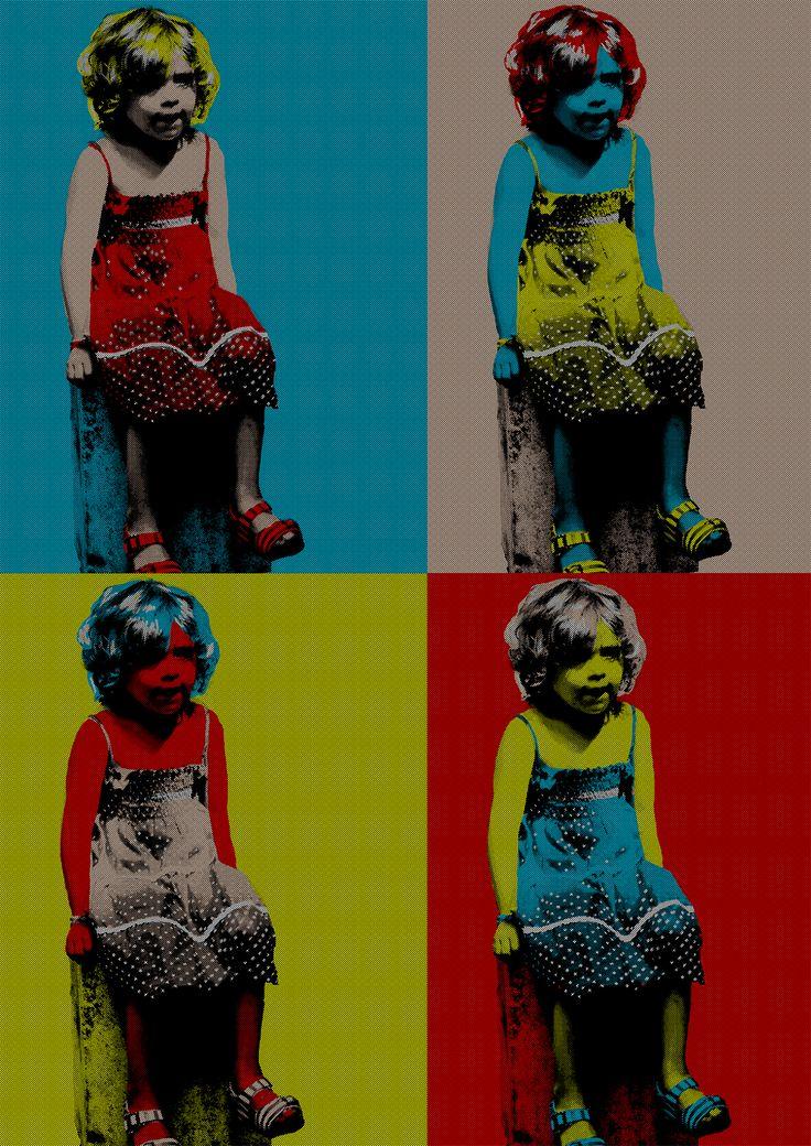 Tento plakát byl vytvořen podle pop art vzoru od Andyho Warhola. Původní fotografie francouzské holčičky byla pořízena na letních prázdninách.