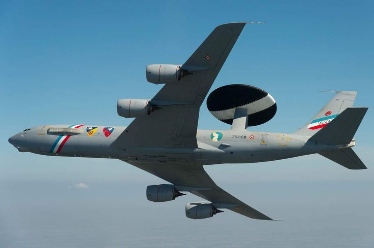 Photo: © JL. Brunet / Air Force - A decorated AWACS E-3F Sentry for 50,000 flight hours of all of the French fleet. Boeing has delivered to the French Air Force's second E-3F Sentry AWACS modernized.