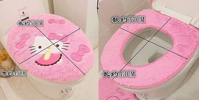 Hello kitty baño establece cover set higiénico wc cubierta de asiento de baño titular cierra herramienta cubierta de la tapa de envío gratis