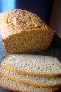 Grain-free Sandwich Bread:: 2/3 c coconut flour, 3/4 c crispy almond flour, 1/2 c + 2 Tbs butter, 8 eggs, 1 Tbs mild-flavored honey, 1 1/2 tsp apple cider vinegar, 3/4 tsp sea salt, 3/4 tsp baking soda. ---- (GAPS : primal : gluten-free)