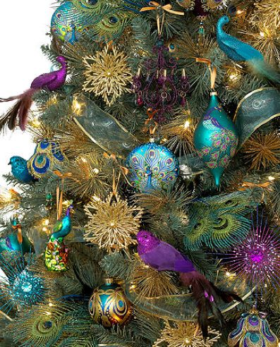 323 best Christmas images on Pinterest Christmas decor, Holiday - peacock christmas decorations