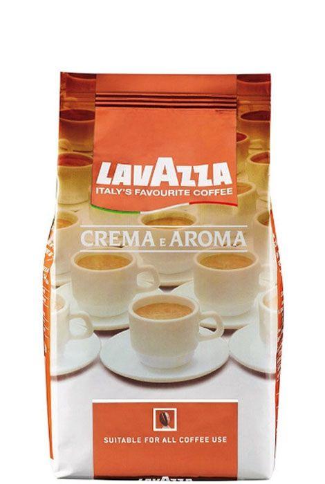 KAWA LAVAZZA CREMA E AROMA  Kawa LAVAZZA powstaje z najlepszych ziaren arabiki i robusty. Charakteryzuje się bogatym smakiem i aromatem. Arabika nadaje kawie subtelności a robusta mocy i zdecydowania. Na kawie powstaje delikatna pianka. Znakomicie smakuje jako espresso lub ze spienionym mlekiem i innymi dodatkami.