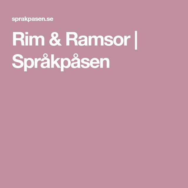 Rim & Ramsor   Språkpåsen