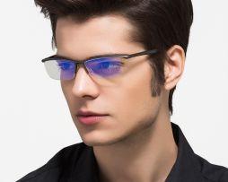 Štýlové okuliare na prácu pri počítači v čiernej farbe