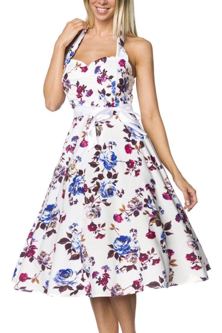 Krásne Kvetinové Vintage Šaty Princess