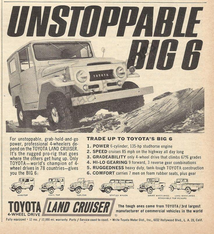 Toyota Land Cruiser Original 1965 Vintage Black by VintageAdOrama