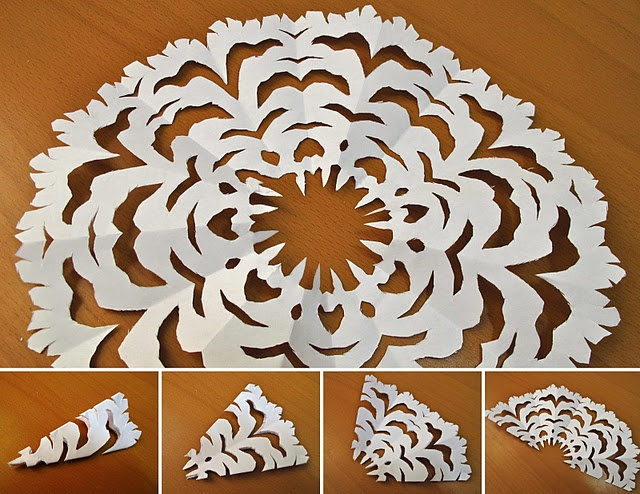 how to make a paper snowflake easy instructions