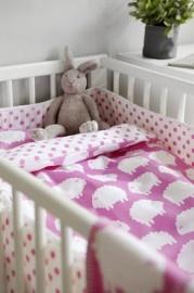 Dekbed - roze schapen   Ledikant   Mini.