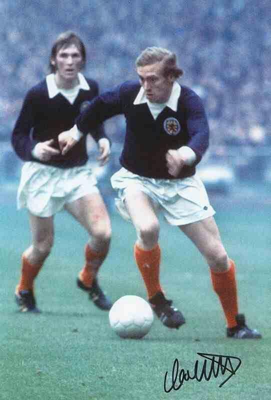 Kenny Dalglish and Colin Stein of Scotland in 1973.