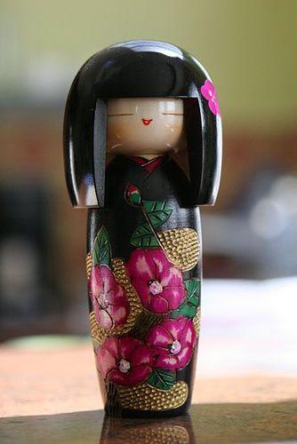 Fuchsia Kokeshi