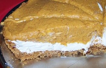 Pumpkin Mousse Double-Layer No Bake Pie | Home for the Holidays | Pin ...