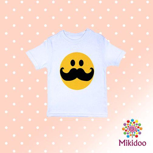 Minikler tişörtüyle çevresine gülümsesin! :) mikidoo.com'da sadece 14,90TL! https://www.mikidoo.com/SMILEY-WITH-MOUSTACHE-ERKEK-COCUK-TISORT-d177