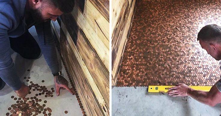 A este barbero le dieron un presupuesto de 1000£ por renovar el suelo de su local, y en vez de eso decidió cubrirlo con 70.000 peniques | Bored Panda