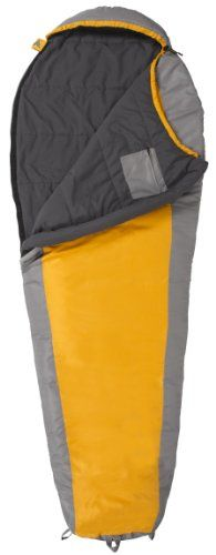 TETON Sports TrailHead +20 Degree F Ultralight Sleeping Bag (2.9 lbs, 87″x 32″x 22″, Orange/Grey)