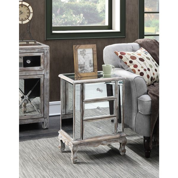17 best ideas about sofa end tables on pinterest storage end tables sofa table with storage - Mirrored console table overstock ...