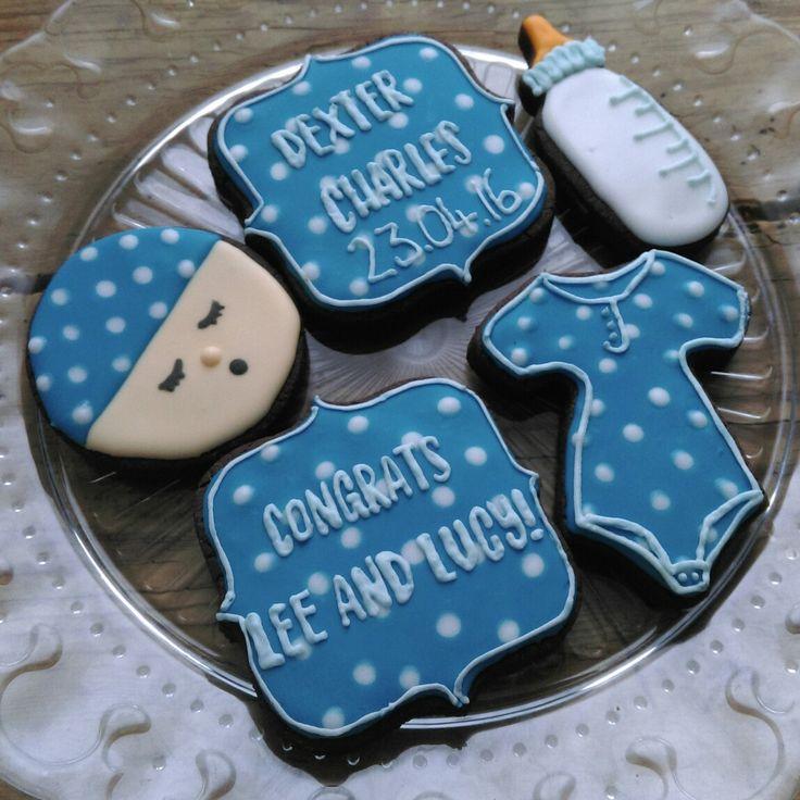 Baby Boy Cookies @thelittlebakingco