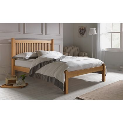 Avebury Double Bed Frame - Oak Stain.