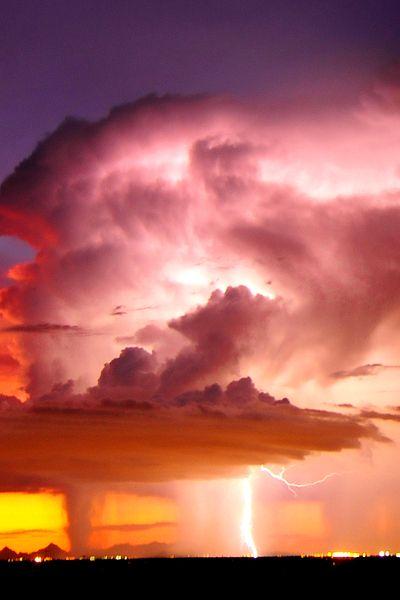 (via 500px / Lightning over Tucson, Arizona by John Forrey)