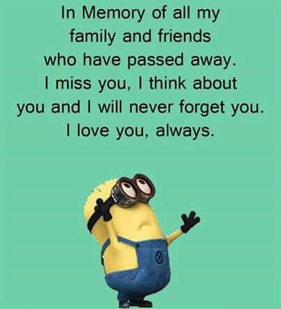 My list is long, but they are not forgotten and live in my heart always.