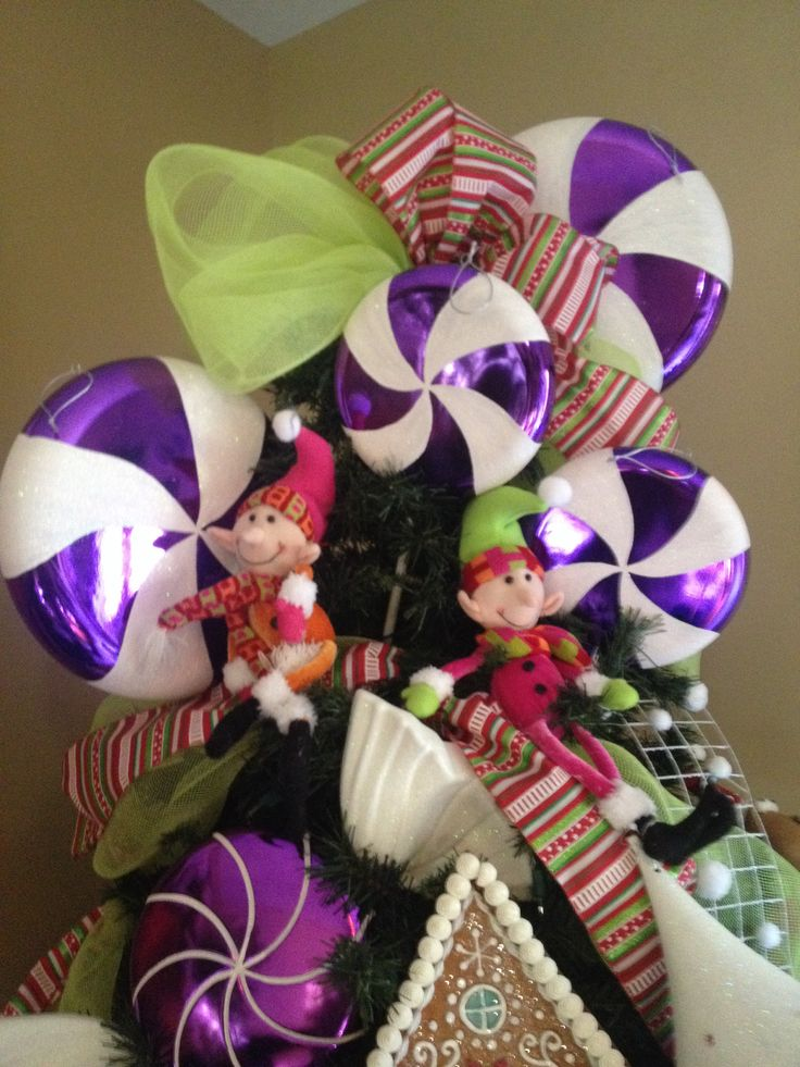 Copete con paletas moradas navidad pinterest paletas - Decoracion para arboles navidenos ...