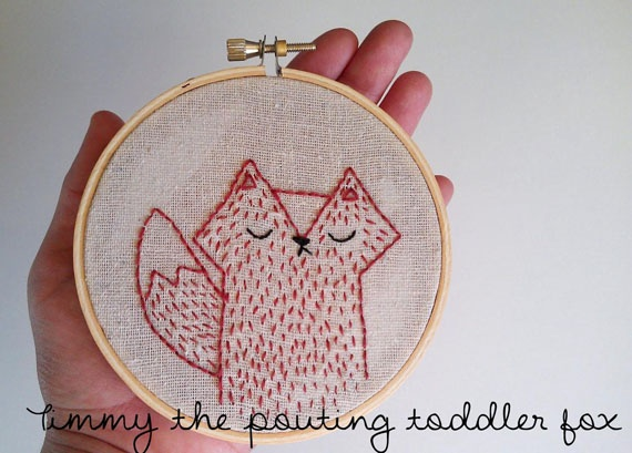 cute: Animal Embroidery, Embroidery Animal, Toddlers Foxes, Stuff, Woodland Foxes, Foxes Embroidery, Foxy Ladies, Embroidered Foxes, Fox Embroidery