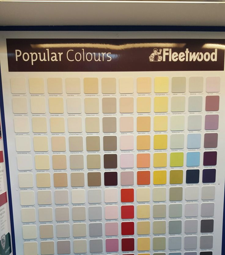 Fleetwood popular colour range