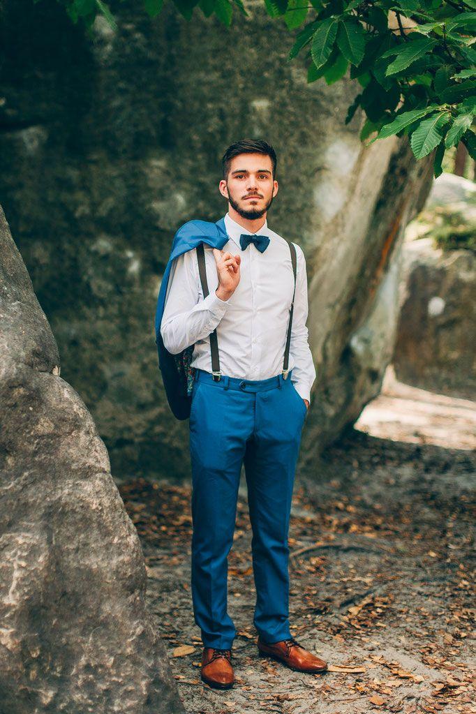 Das ideale Accessoire für den Anzug des Bräutigams bei der Hochzeit - Hosenträger
