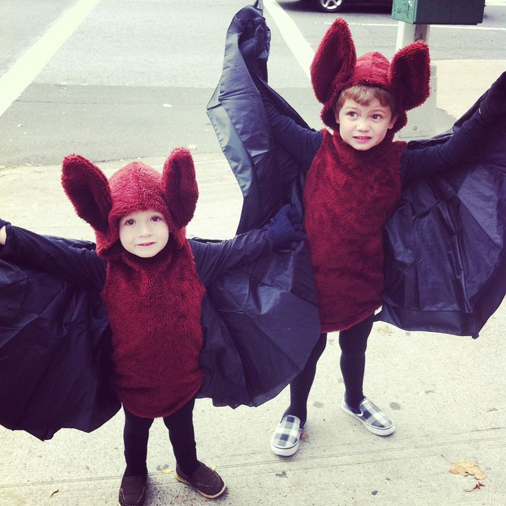 fruit bat costumes by Micah Heiselt @Marielle de Geest Deighan, I could see a bunch of little fruit bats at your house!