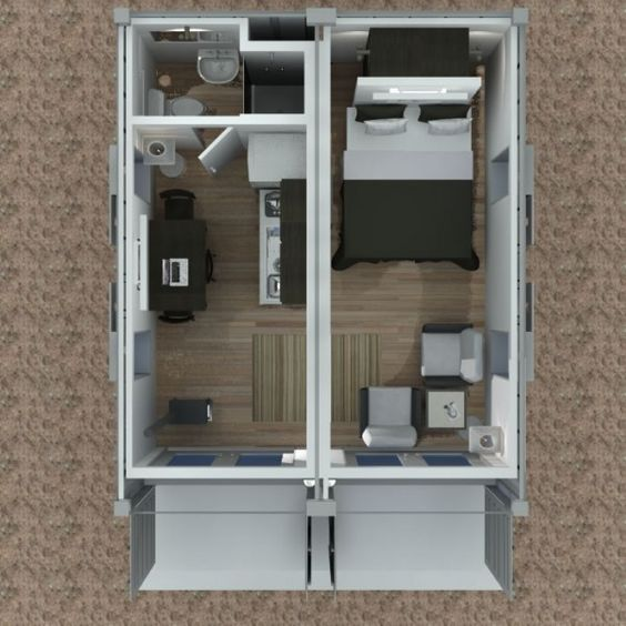 Shipping Container Cabin Concept – Part 3 | Tiny House Design