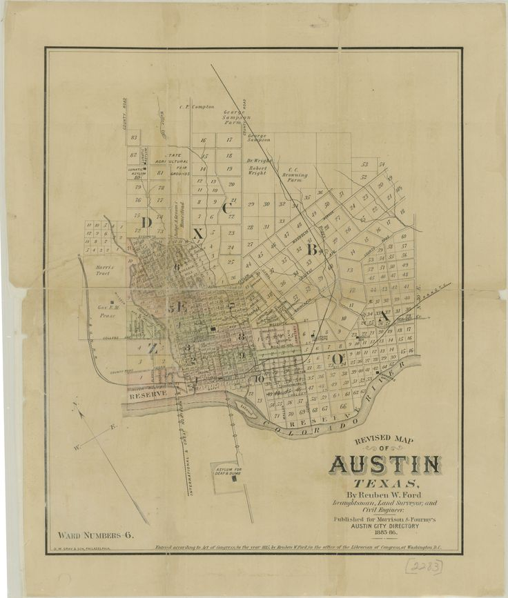 City of Austin, Texas map from 1885Maps Exploration, Texas Official, Blessed Texas, Texas Cities, Cities Maps, Austin Texas, Cartographic Art, Texas Maps, 1885 Cities