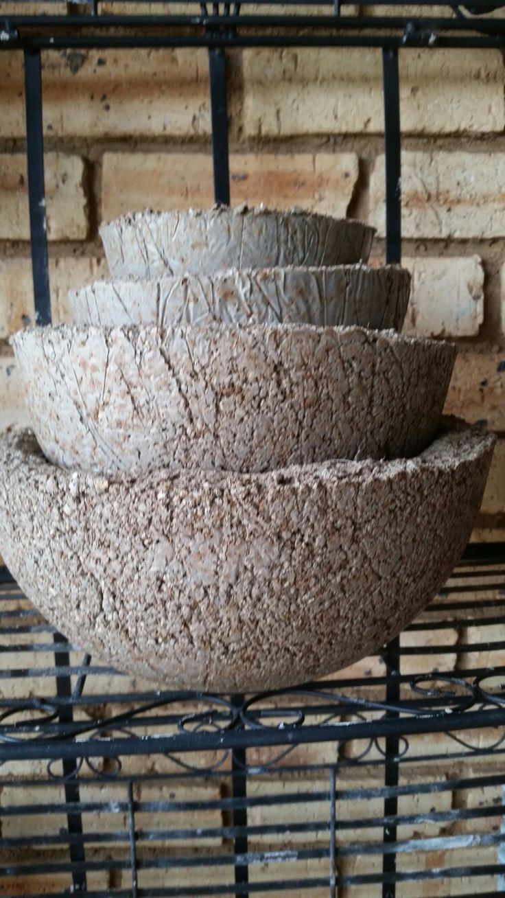 Hypertufa set of pots