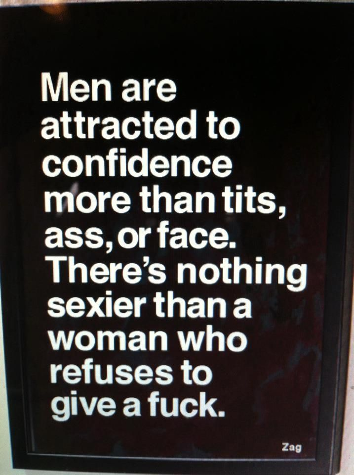 quotes - men are attracted to confidence