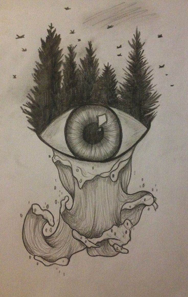 nature drawing forest eye sea drawings easy pencil meaningful sketching sketch things sketches landscape random visit paintings