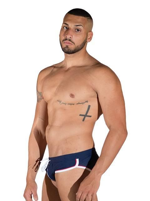 Mister B URBAN Long Beach Swim Brief blue | BiBo Fashion