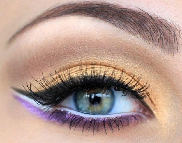 Восточный макияж для серых глаз ::: onelady.ru ::: #makeup #eyes #eyemakeup