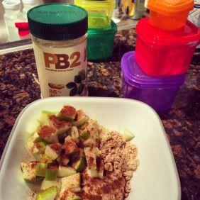 21 Day Fix recipe ideas. Apples, Greek yogurt, PB2 and cinnamon. YUM.