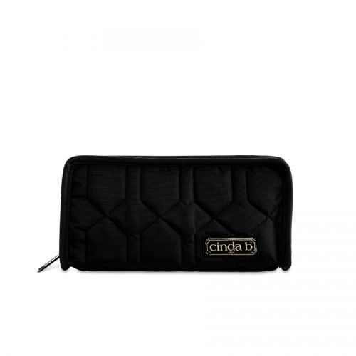 Continental Zip Wallet II in Noir