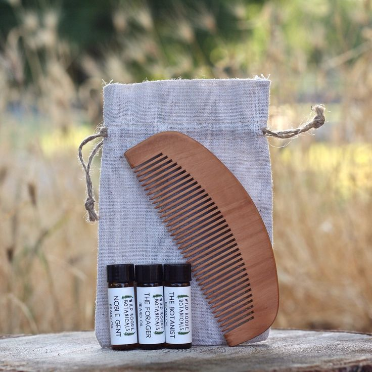Don't know which beard oil to get? Try our beard oil sampler pack. You get all 3 scents plus a wooden comb and bag. Each vile lasts about 1-2 weeks of daily use.