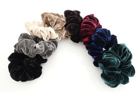 De taille moyenne solide velours chouchous femmes cravate accessoires accessoires pour cheveu…