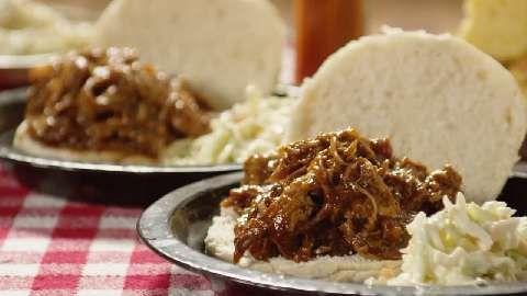 Bourbon-Mango Pulled Pork Allrecipes.com | Food and Drink! | Pinterest ...