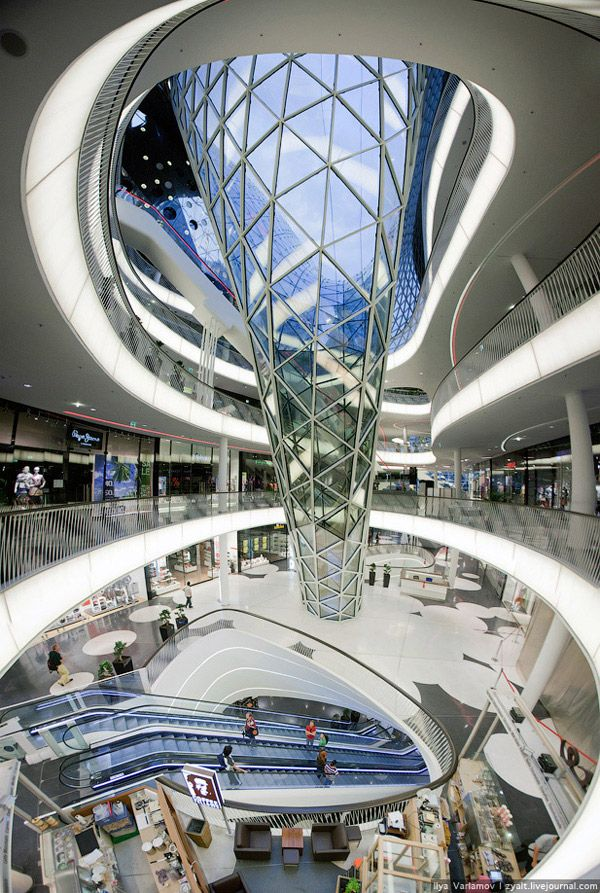 "Shopping center ""Maytsayl"" is located on the main shopping street Zeil, Frankfurt-am-Main, Germany."