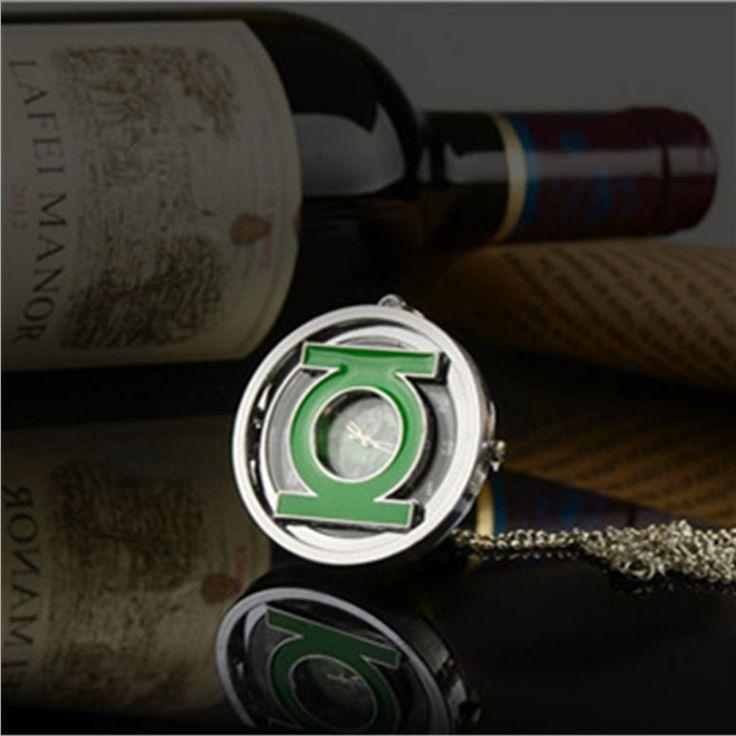 Green Lantern Pocket Watch Necklace