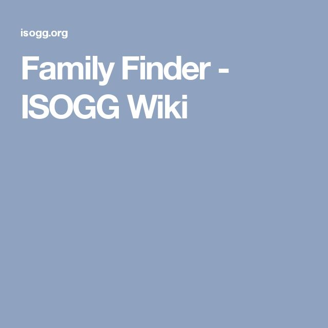 Family Finder - ISOGG Wiki