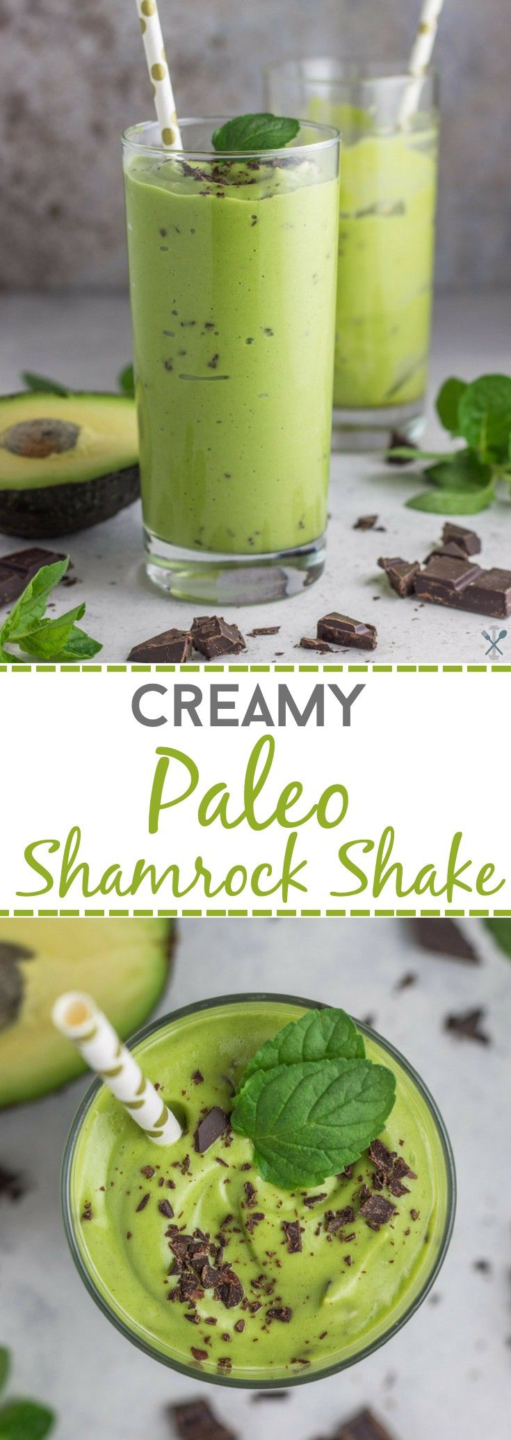 This creamy and healthy shamrock inspired shake is dairy free and naturally sweetened. Even packs a veggie punch!