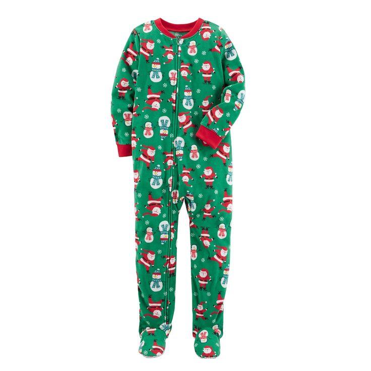 Boys 8-20 Carter's Print Fleece Santa & Snowman Pajamas, Size: 6