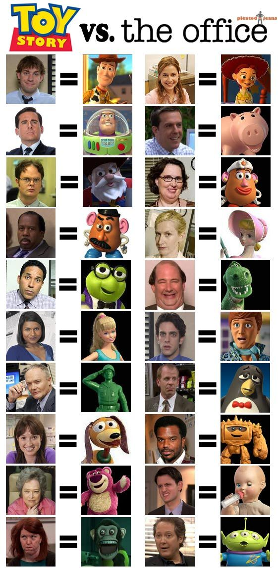Combines my love for The Office and Toy Story...perfection.This is super hilarious!!